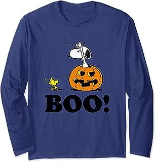 Peanuts Halloween Snoopy Woodstock BOO! Long Sleeve T-Shirt