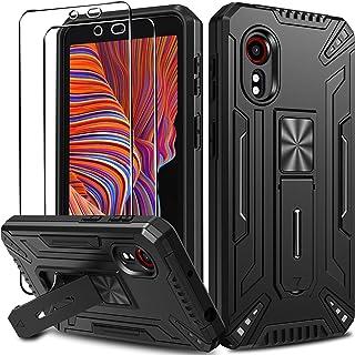 ivoler Coque pour Samsung Galaxy Xcover 5 avec Support Béquille et [Protection écran en Verre Trempé *2], [Military Grade]...