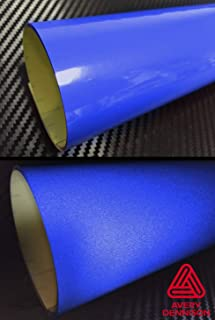 Avery Blue Reflective Adhesive Automotive Detailing Vinyl Wrap Roll (6 Inch x 54 Inch)