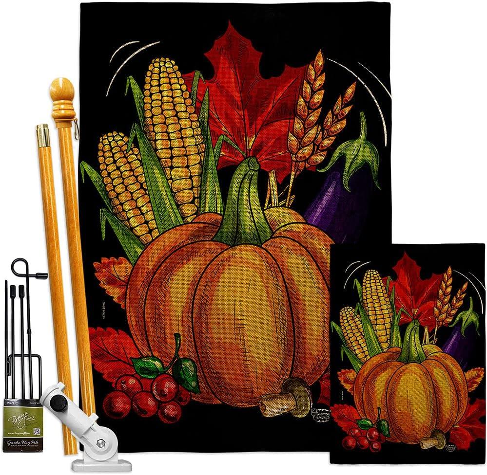 Harvest Autumn Traditional Thanksgiving Ranking TOP6 Burlap House Garden Fl 4 years warranty