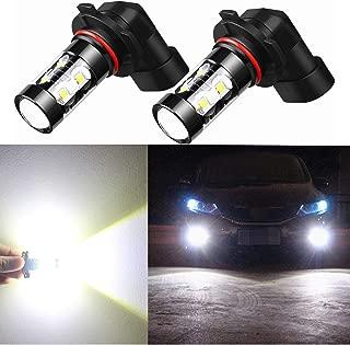 Alla Lighting 9006 LED Fog Light Bulbs Super Bright HB4 9006 LED Bulb High Power 6000K Xenon White 50W 12V Replacement for Cars, Trucks, SUVs