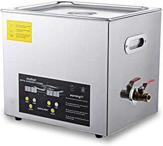 Commercial Ultrasonic Cleaner 10L Heated Lab Ultrasonic Cleaner with Digital Timer Ultrasonic Carburetor Jewelry Dental Cleaner Large Capacity Cleaner Solution