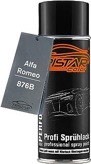 TRISTARcolor Autolack Spraydose für Alfa Romeo 876B Nero Carbonio Metallic Basislack Sprühdose 400ml