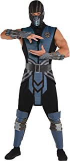 Mortal Kombat Sub-Zero Costume for Adults, Standard Size, Includes a Jumpsuit, a Tabard, and a Mask