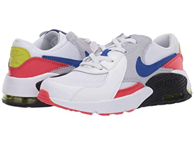 Nike Kids Air Max Excee (Little Kid) (White/Hyper Blue/Bright Cactus/Track Red) Kid
