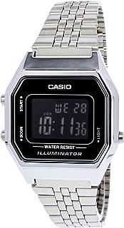 5949429603b Relógio Feminino Digital Casio Vintage LA680WA-1BDF - Prata
