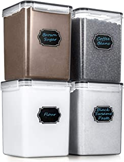 Estmoon Large Airtight Food Storage Containers Cereal Storage Container Kitchen Storage Containers - Leakproof, Locking Lids, BPA Free, Freezer, Dishwasher Safe, for Cereals, Flour,etc(175OZ/5.2L)
