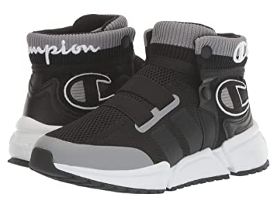 Champion Kids Rally Future (Big Kid) (Black/Concrete) Boy