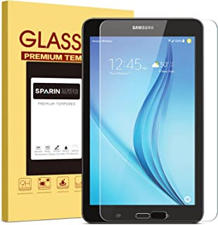 SPARIN Samsung Galaxy Tab E 8.0 Screen Protector, [.3mm] [Tempered Glass] [Bubble-Free] Screen Protector for Samsung Galaxy Tab E 8.0 Inch