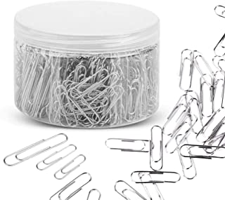 680 Pcs Paper Clips, Assorted Size Sliver Paperclips with Jumbo Medium Small (28/33/50mm), for Office School and Personal ...