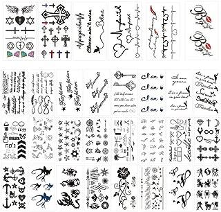 Kitchen-dream Tatuajes adhesivos temporales de 30 hojas, tatuaje ...