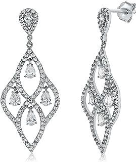 Montage Jewelry Women's Sterling Silver & Cubic Zirconia Vintage Chandelier Earrings