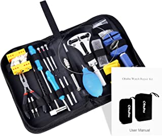 Ohuhu 176 PCS Watch Repair Tool Kit, Professional Watch Case Opener Spring Bar Tool Set, Watch Band Link Pin Tools with Carrying Case