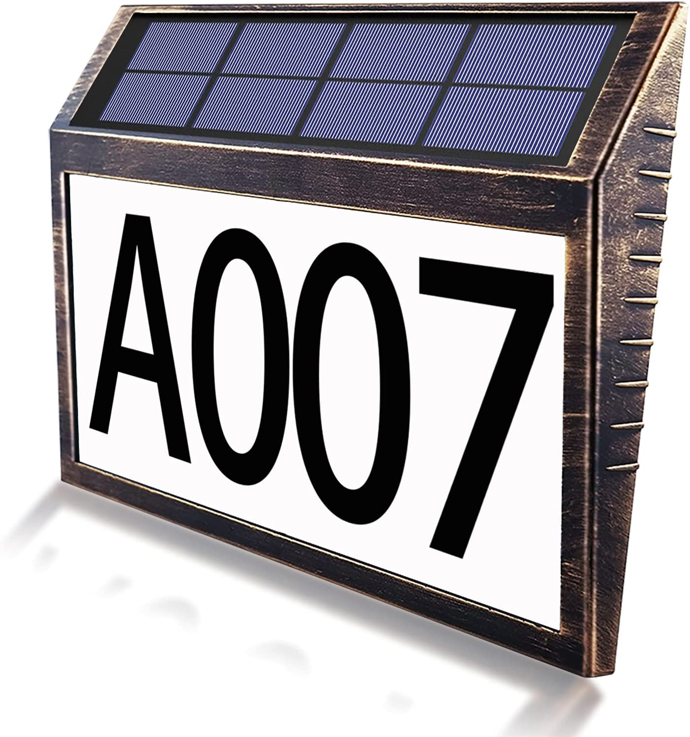 House Numbers for Outside,Solar Power 10 LED Light Address Numbe