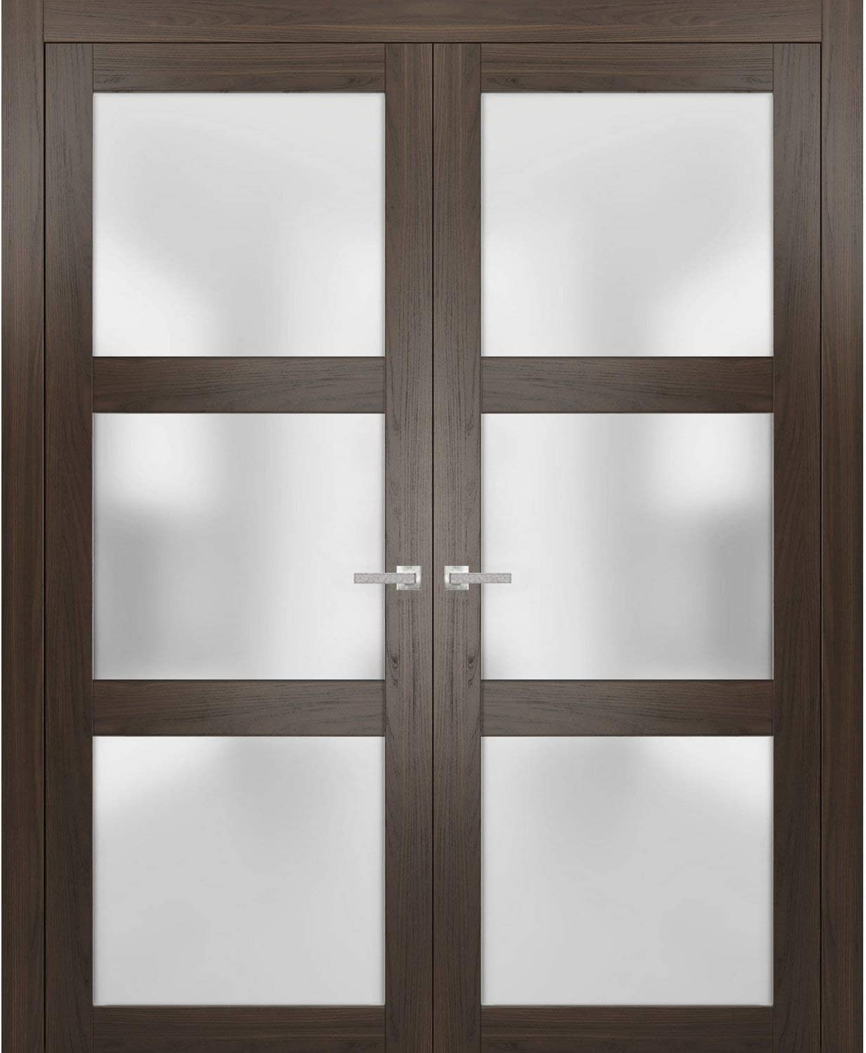 Solid French Double Doors 60 x Lucia inches Department store Free shipping 2 80 Glass Frosted