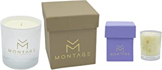 Montage Lifestyle Soy Wax Candle Gift Set -Bliss- Aromatherapy Candles for De-Stress and Relaxation with 100% Pure Essential Oils- Handmade in Greece