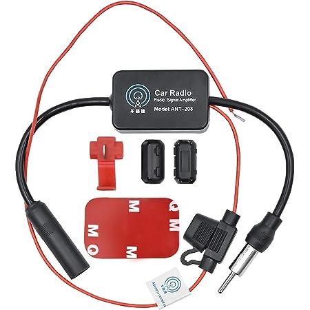 Wekon Auto Auto Antennenverstärker 12 13db Radio Antenne Signal Verstärker Verstärkung Audio Stereo Fm Am Für Fahrzeug Kfz Autoradio Dc10 15v Auto