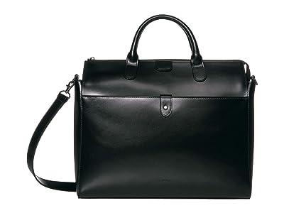 Lodis Accessories Audrey Under Lock Key Kara Work Tote (Black/Black) Handbags