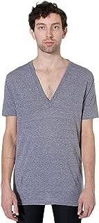 American Apparel Men Tri-Blend Deep V-Neck T-Shirt