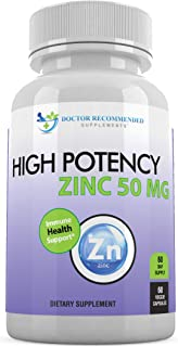 Sponsored Ad - Zinc 50mg - Zinc Picolinate Immune Health Support Supplement 60 Veggie Capsules for Adults and Kids Vitamin...