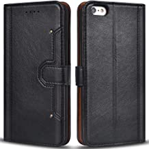 Airkuco Wallet Case for iPhone 6 Plus, Premium Leather Flip Phone Protective Case Cover for Apple iPhone 6 Plus and iPhone 6S Plus iPhone 6 Plus / 6S Plus - (Black) AIH3CT1071