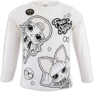 LOL SURPRISE - Camiseta de Manga Larga para niña con Purpurina