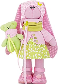 Personalized Stuffed rabbit 14 inch for girl, Easter bunny, fabric doll, handmade