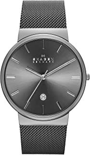Skagen Ancher Men's Grey Dial Stainless Steel Analog Watch - SKW6108