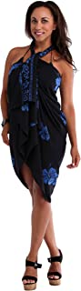 1 World Sarongs Women's Fringeless Hibiscus Sarong