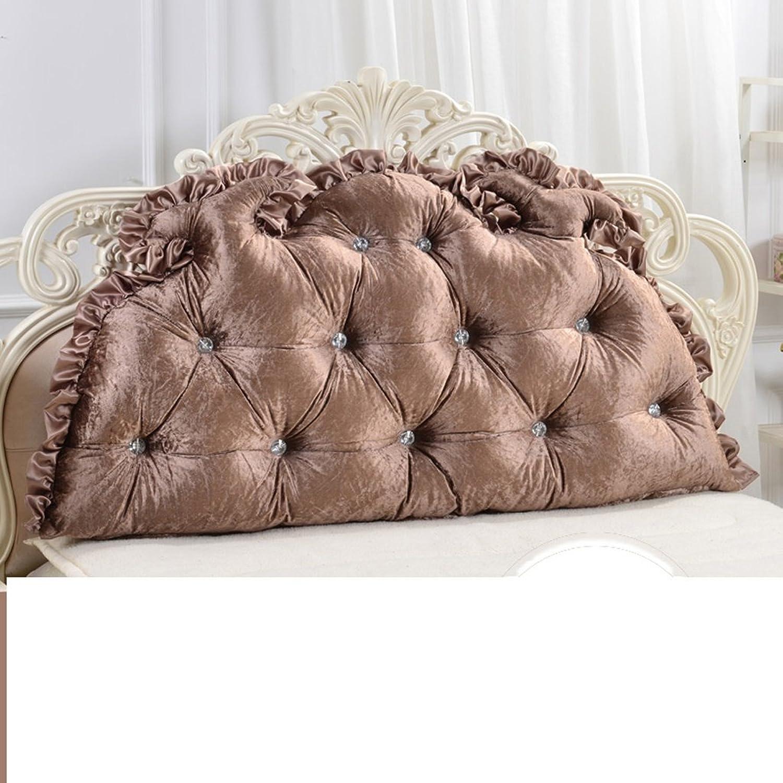 WOFULL Coussins de chevet doubles européens Coussins de lit doux (Couleur   3, taille   1.5m)