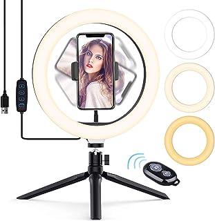 Luce Tik Tok LED Anello Treppiedi,Ring Light con Telecomando Wireless per Smartphone,Foto,Youtube,Trucco,Lampada Anulare R...