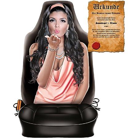 Sabuy Auto Sitzbezug Bayerin Bayrische Frau Im Dirndl Lustiger Sitzbezug Mit Fotodruck Motiv Ein Hingucker Mit Humor Für Ihr Auto Auto