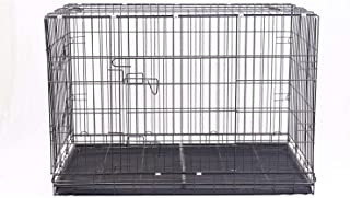 Despacito Metal Foldable Rabbit Cage, Pet House for Rabbit,Dogs and Cats(17 * 24 * 20 inch(L*B*H),Random Color)