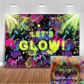 Mocsicka Let's Glow Fotohintergrund, 17,8 x 152 cm, Neonfarben, Neon Party