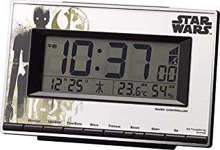 STAR WARS (スター ウォーズ) 目覚まし時計 電波 デジタル (K-2SO) 【 限定商品 】 白 リズム時計 8RZ133MD03