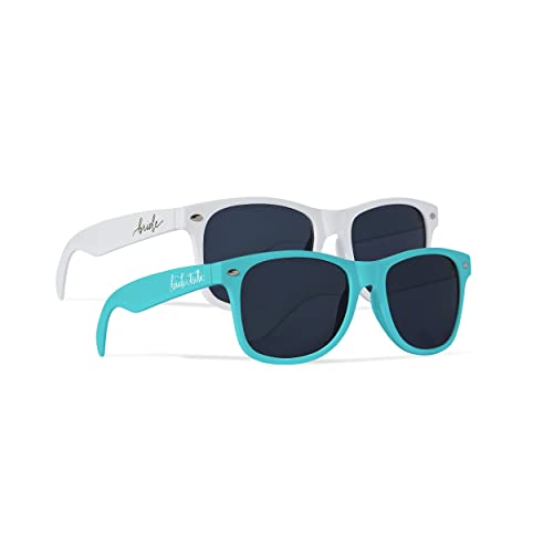 Bachelorette Bridal Party Favor Mint Sunglasses 6 Piece Set Wedding Photo Props