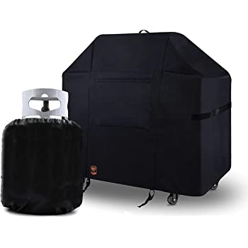 Amazon Com Yukon Glory 7106 Premium Grill Cover For Weber Spirit 220 And 300 Series Gas Grills For Year Round Protection Includes Propane Tank Cover Garden Outdoor