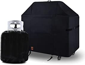 Yukon Glory Premium Grill Cover 7130 for Webber Genesis II and 300 3 Burner Gas Grills for Year Round Protection, Includes Bonus Propane Tank Protective Cover