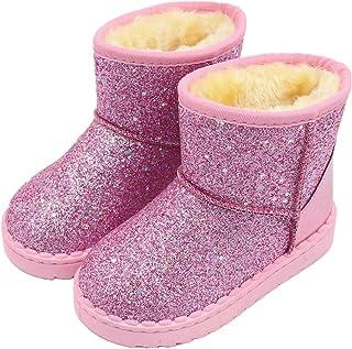 أحذية شتوية دافئة للبنات الصغار في الشتاء أحذية الشتاء من الترتر للأطفال الصغار
