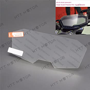 Cluster Scratch Protection Film//Screen Protector Compatible with Yamaha FZ09 MT-09 HONGK B0734DTW5C