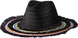 Rainbow Panama Hat w/ Frayed Edge