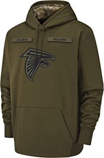 Dunbrooke Apparel Men's Atlanta Falcons Therma Fit Pullover Salute to Service Hoodie
