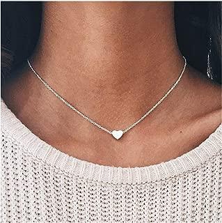 tiny heart choker necklace
