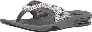 REEF Men's Fanning Prints Sandal, Grey Lines, 13 M US