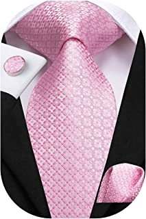 "Dubulle Mens Paisely Silk Tie and Pocket Square Set 59""/63"" Length"