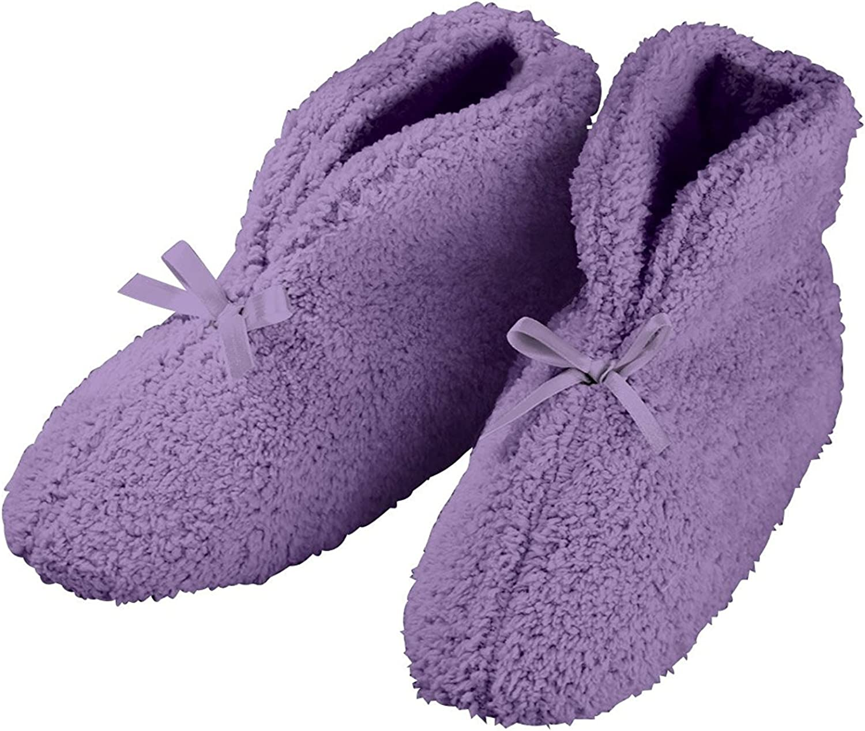 EasyComforts Ultra Plush Slip Resistant Chenille Slipper   Lavender
