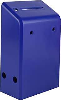 """MCB Hard Plastic Charity Donation Boxes or Coin Collection Box, Wall Mount Ballot Box 6.1"""" x 3.9"""" x 2.2"""" - Pack of 5 (Blue)"""