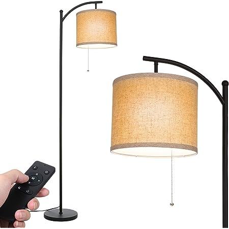 Lampadaire de salon Tomshine Avec télécommande et base en fer - Lampe classique moderne avec LED E27 - Blanc chaud - Pour salon, chambre à coucher, bureau