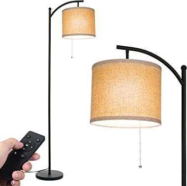 Tomshine Modern Floor Lamp, Standing Lamps with Remote Control and Adjustable Dimmable Bulb, 3 Color Temperatures Floor Lamps