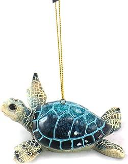 unison gifts YXF-182 4.25 INCH Blue SEA Turtle Ornament, Multicolor